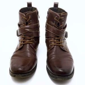 Designer Steve Madden Aspen High Top Army Boots